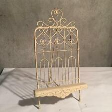 Metal Display Plate Picture Easel Shabby Charm Ornate Book Display Wedding Chic
