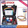 HVAC A/C Refrigeration Kit AC Manifold Gauge Set R134A Auto Service Kit R12 R22
