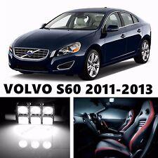 12pcs LED Xenon White Light Interior Package Kit for VOLVO S60 2011-2013