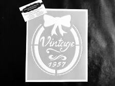 Pochoir Adhésif Réutilisable 25 x 20 cm Camée Et noeud vintage / Made in FR
