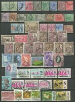 Malaya - Straits Settlements / Singapore 1892-1950. Lot of Used stamps