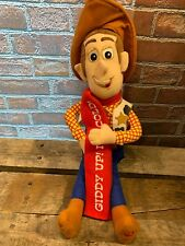 WOODY Toy Story Giddy Up It's Cold Talking Plush Stuffed Cowboy Toy