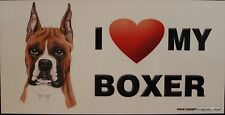 Boxer Magnet Dog Car RV Display Anywhere Puppy Love Heart  Refrigerator Cabinet