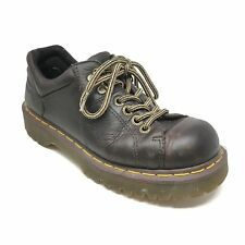 Men's Dr Doc Martens Grizzly Boots Shoes Size 7M Brown Leather Casual Laced T10