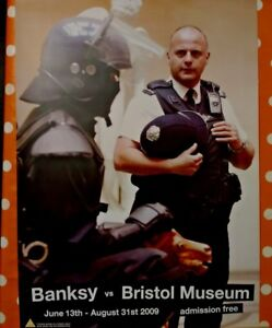 BANKSY VS Bristol Museum 2009 Official Exhibition Poster COPPER