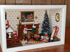 Miniature Dollhouse 1:12 Scale Christmas Display Room Box Diorama by Cyndi