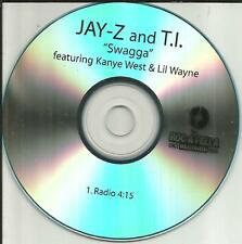 JAY Z w/ T.I. Kanye West & LIL WAYNE Swagga RADIO Version PROMO CD single MINT
