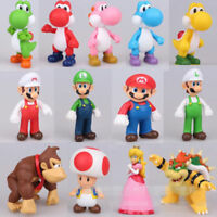 2019 Gifts Cute Super Mario Bros Luigi Mario Yoshi Bowser Action Figures Toy 5''