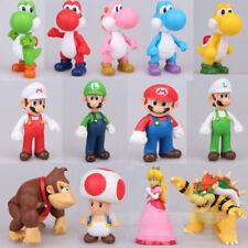 2019 Gifts Cute Super Mario Bros Luigi Mario Yoshi Bowser Action Figures Toy 5''