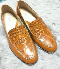 Traversi Genuine Alligator Loafers Shoes Dress Casual Shoes RARE Size 8.5