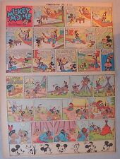 Mickey Mouse Sunday Page by Walt Disney from 7/13/1941 Tabloid Page Size