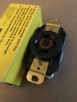 New HUBBELL NEMA L8-20 Twist Lock Locking Receptacle 480 Volt 20 Amp