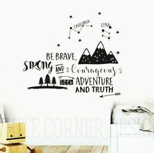 Be Brave, Strong And Courageous, Seek Adventure and Truth decal,  Boys Nursery
