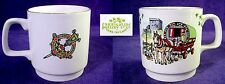 Vintage CARRIGALINE Irish POTTERY Coffee MUG Tea CUP Castle Gypsy Horse SHAMROCK