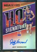2018-19 Jeff Hornacek Auto Panini Hoops Autographs Hot Signatures
