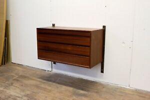 Vintage Cado Royal System Hanging Dresser Drawer Cabinet by Poul Cadovius