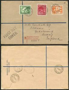 British Guiana Mixed Stamps on FDC to England