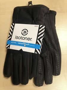 Isotoner Active SmartTouch Gloves Thermaflex Lining Black/brown Warm Sz Med NWT