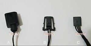 2x VAG plug play LED resistor number plate GENUINE CONNECTORS VW Audi Seat Skoda