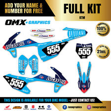 2003 - 2019 Full KTM EXC 125 200 250 300 TPI MX Graphics Stickers Decals Kit LO