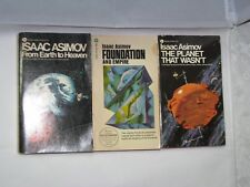 LOT of 3 Isaac Asimov The Planet That Wasn't, Foundation and From Earth to Heave