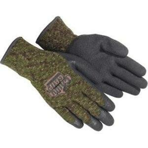 Red Steer Camo Chilly Grip Cold Storage Work Hunting Gloves Camouflage Winter