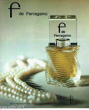 PUBLICITE ADVERTISING 116  1978  pafum femme F par Ferragamo