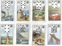 MILE LENORMAND #1941 METAPHYSICAL TAROT CARDS - 3 LANGUAGES #121