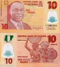 NIGERIA BILLET 10 Naira 2010 POLYMER NEW NOUVEAU UNC NEUF