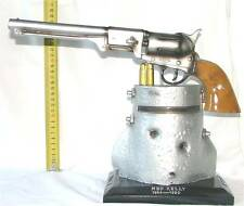 Ned Kelly's Full Size Gun on Helmet. 30cm high x 30wide full Matalic Colour