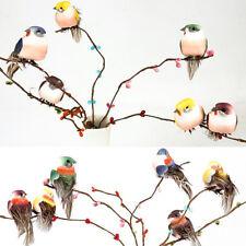 Mini faux oiseaux artificiels plumes mousse Colombes décoration lieu de mariageB