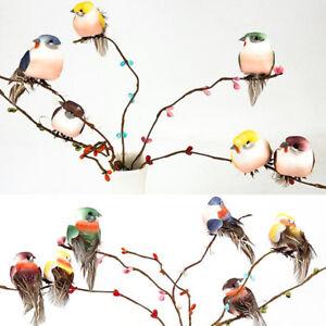 Mini faux oiseau artificielle plume de mousse de plumes décoration de mari FE BH