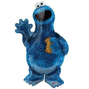 Sesame Street Cookie Monster Super Sized Foil Mylar Balloon 38 Inches Tall New