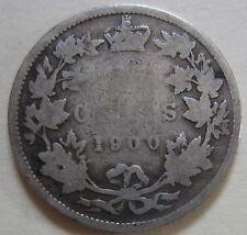 1900 Canada Silver Twenty-Five Cents Coin. (UJ12)