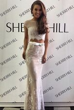Sherri Hill 50334 Prom Formal Gown -Ivory/Nude -Double 0 -100% Authentic W/ Tags