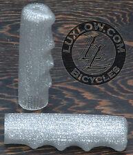 Silver Sparkle Vintage Schwinn Stingray T Bike Grips Lowrider Bicycle Cruiser