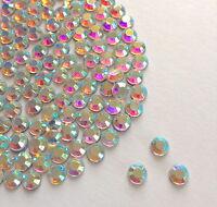 Sparkly Crystal AB Flat Back Loose Rhinestones Gems size 2,3,4,5,6,7mm AAA
