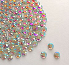 Sparkly Crystal AB Flat Back Loose Rhinestones Gems size 2,3,4,5,6,7mm AAA