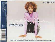 WHITNEY HOUSTON STEP BY STEP CD SINGLE 3 TRACKS