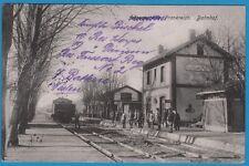 CPA allemande:WARMERIVILLE, Frankreich - Bahnhof / Gare / guerre 14-18 / 1915