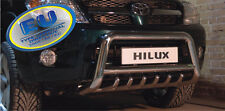 PARE BUFFLE TOYOTA HILUX  2005-2011 HOMOLOGUE INOX Ø 70mm avec grill