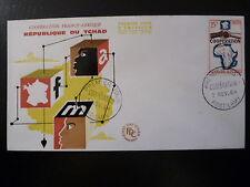 TCHAD 101  PREMIER JOUR  FDC      COOPERATION AVEC LA FRANCE      25F    1964