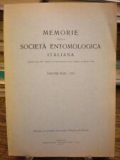 (SOCIETA' ANTOMOLOGICA) MEMORIE VOLUME XLIX 1970