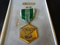 Military Medal With Ribbon For Military Merit Green White Eagle Design In Case