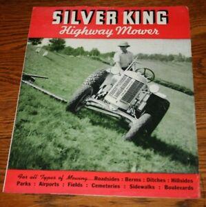 Rare Silver King Tractors Highway Mower Sales Brochure Plymouth Ohio