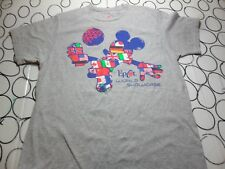 Large- Mickey Mouse Disney Soccer World Case Parks Epcot Center T- Shirt