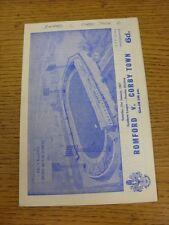 21/01/1967 GENNAIO V CORBY Town (scrivendo sulla copertina, piccoli Marks & punteggio annotato INS
