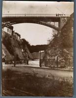 Algérie, Bône (عنابة), Le Pont des Suicidés  Vintage citrate print. Photo J. Bou