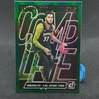 Karl-Anthony Towns Donruss Green Flood Complete Players NBA Card 2019-20 Panini