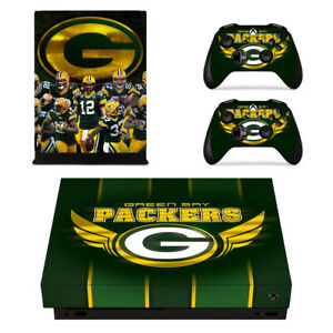 Xbox one X Console Controller Decals Vinyl Skin Stickers Green Bay Packers NFL